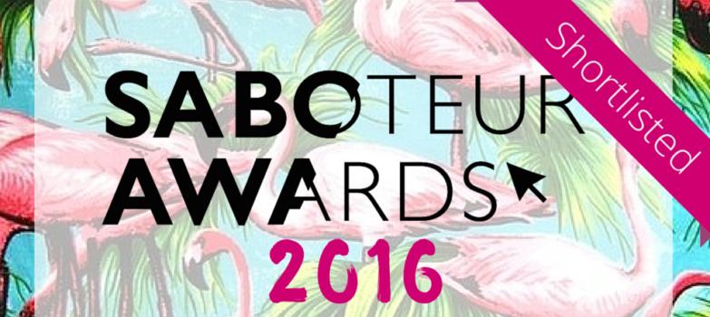Saboteur awards shortlisted